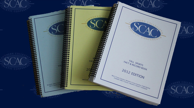 SCAC Releases 2012-13 Record Books