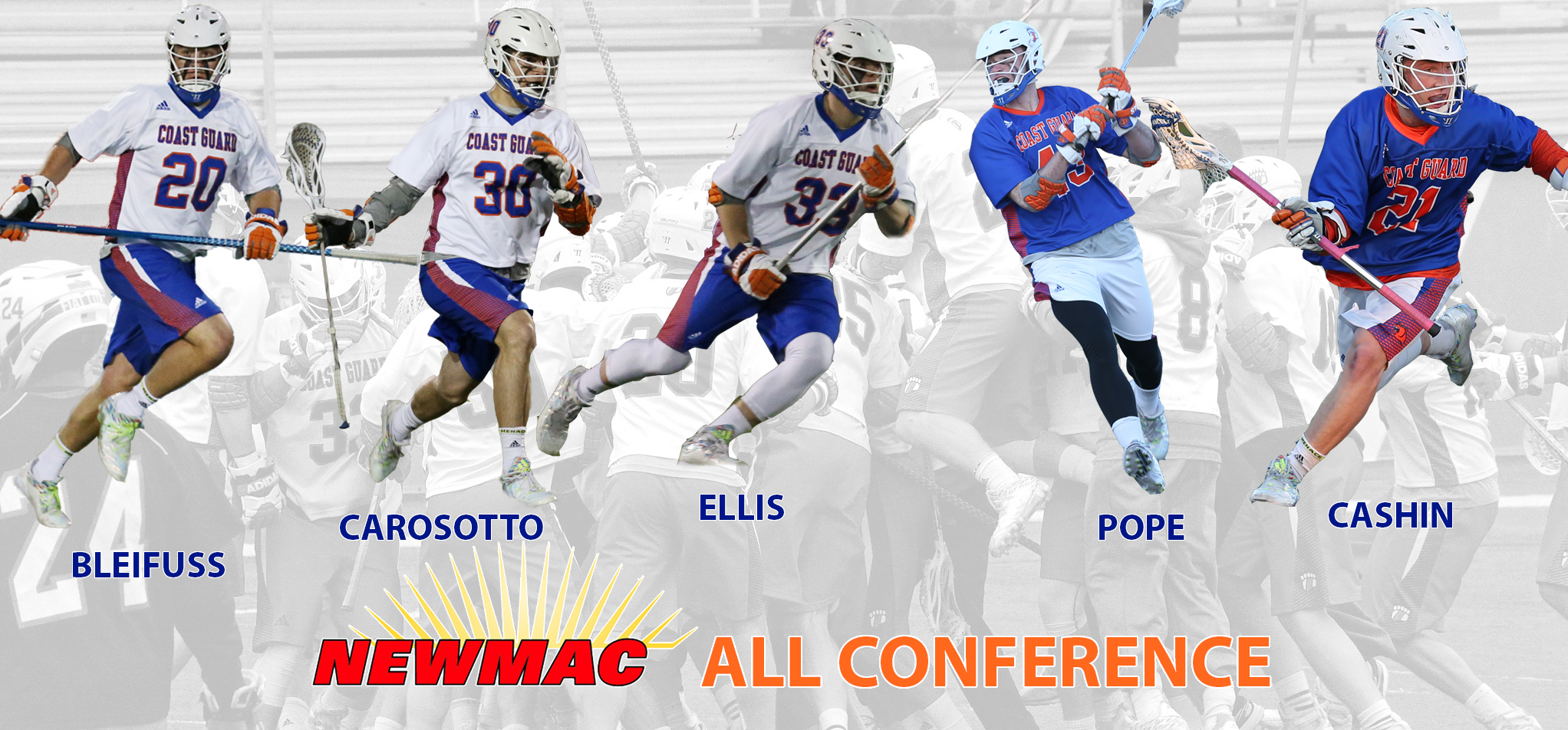Coast Guard Places Five on All-NEWMAC Team