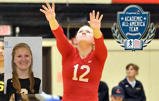 Senior Sam Curran became the first Leopard women's volleyball player to earn Capital One Division III Academic All-America� honors