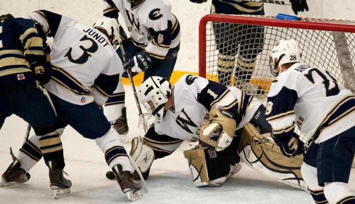 Men's Hockey Falls at Home to St. Norbert