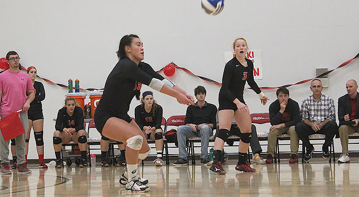 Women's Volleyball Edged By Cortland On The Road