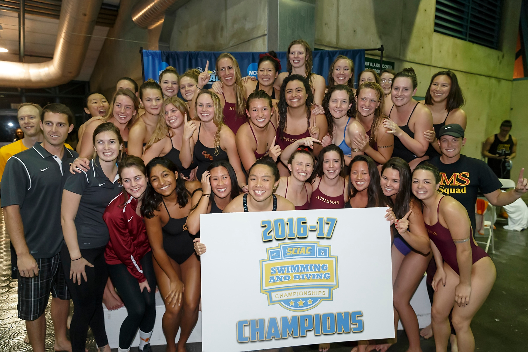SCIAC Champs: Stags by eight points, Athenas by 296