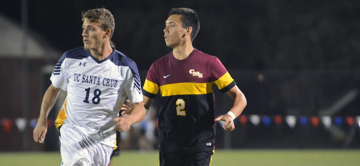 Stout Defense Leads CMS Men's Soccer to 2-0 Win over UC Santa Cruz