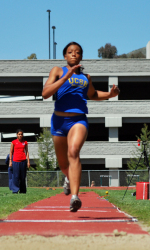 Anderson Hits Regional Mark in the Shot Put at the Cal Poly Invitational