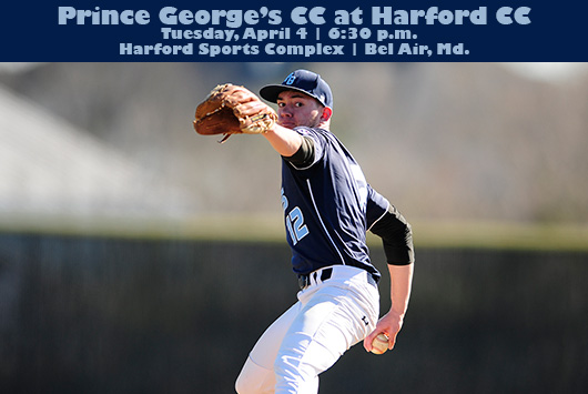 Prince George's Baseball Begins Three-Game Maryland JUCO Road Trip At Harford On Tuesday Night