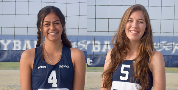 Ka'awaloa and Fitzgerald earn women's beach volleyball honors