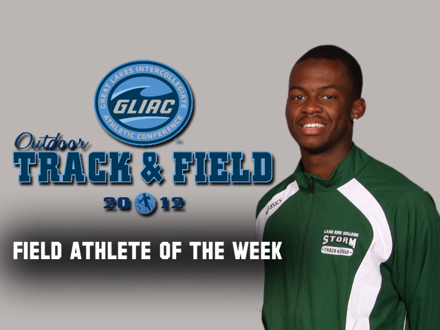 Jamil Dudley Named GLIAC Field Athlete of the Week