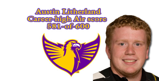 Litherland sets career-high in air rifle competition but Tech falls to UT Martin