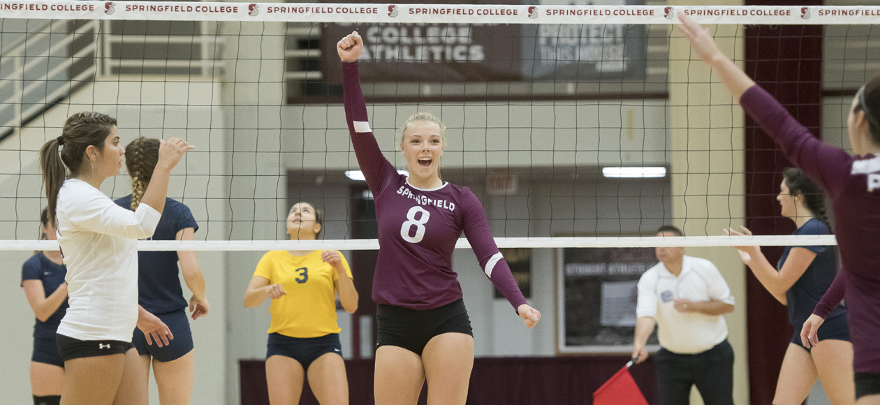 Women's Volleyball Pushes Past Amherst, 3-1