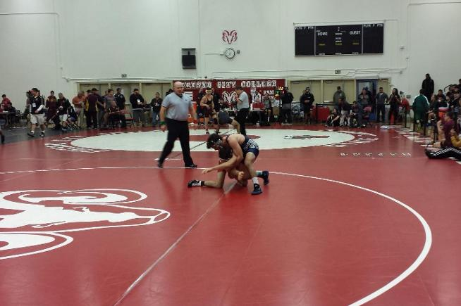 Jesse Gomez pinned his first opponent at the state championships