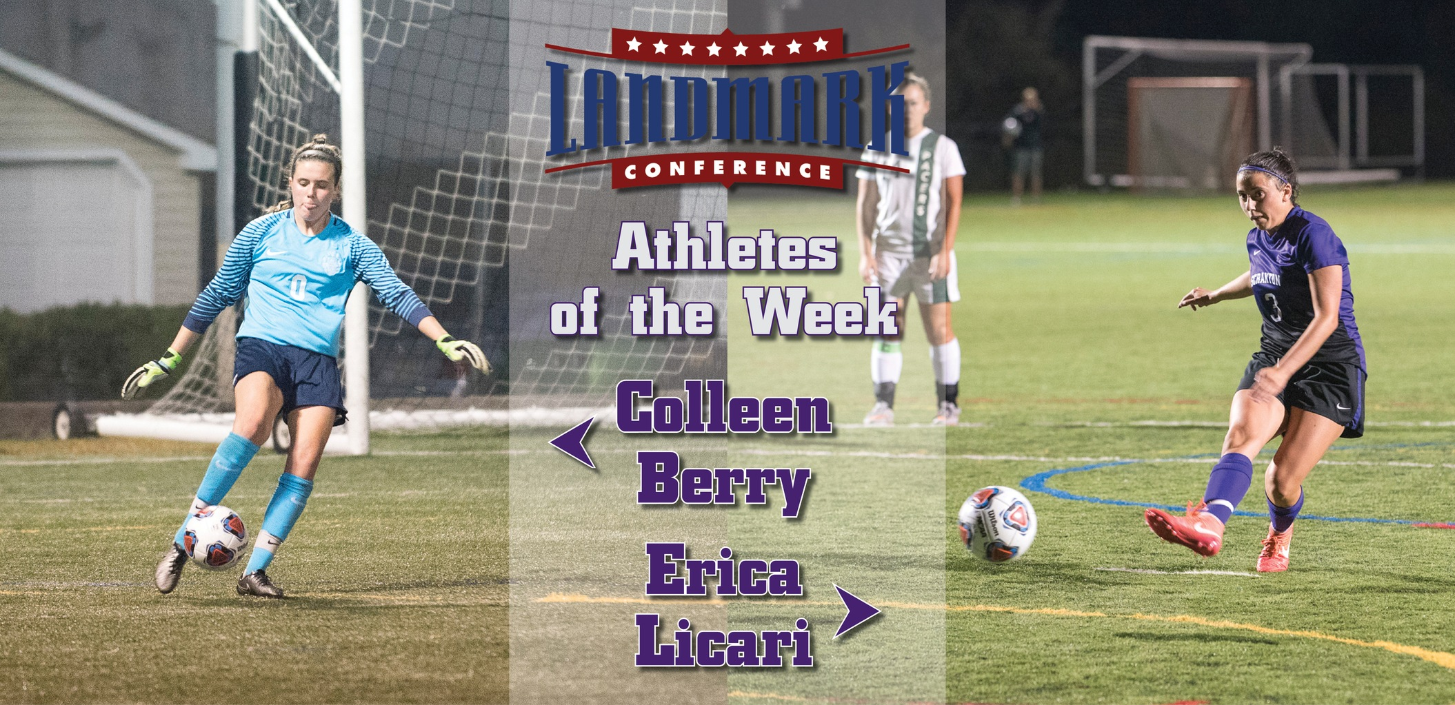 Berry, Licari Earn Landmark Conference Athlete of the Week Awards