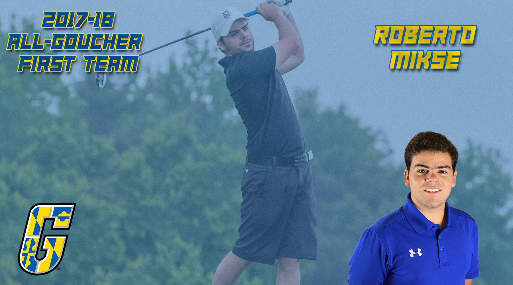 All-Goucher First Team Selection: Men's Golf's Roberto Mikse