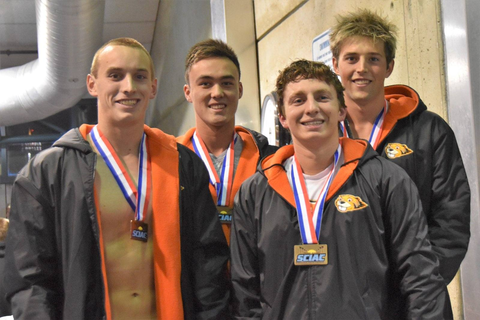 Two Records Fall, Men Take Fourth Place at SCIAC's Day 1