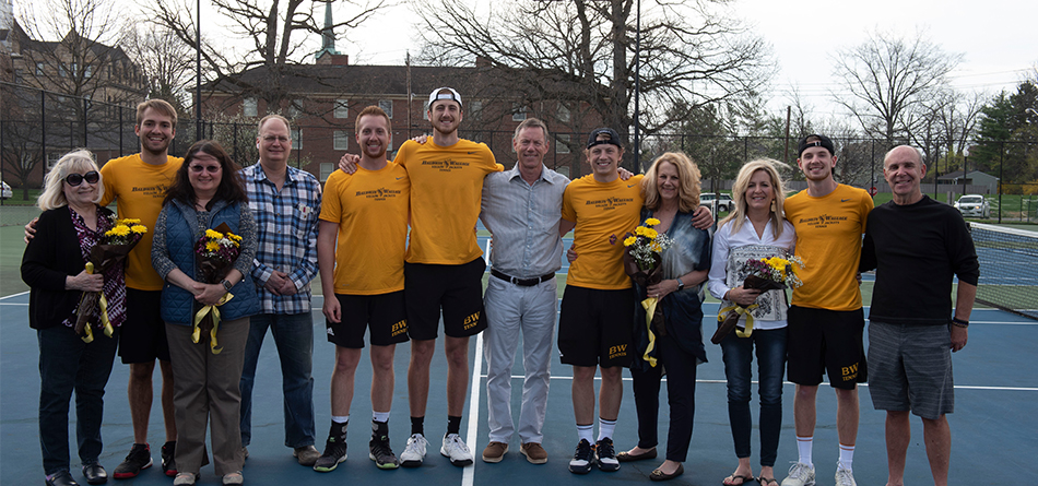 Men's Tennis Sweeps Senior's Day Match With Heidelberg