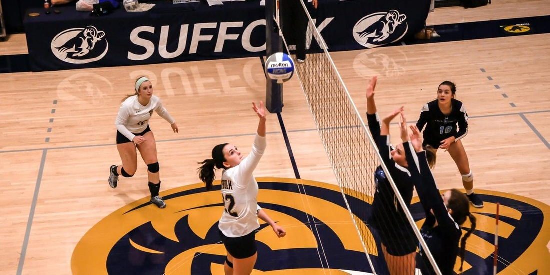 Volleyball Slips in Straight Sets to St. Joseph's (Maine)