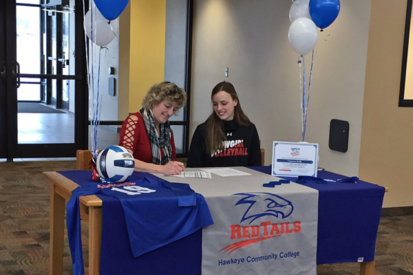 RedTail Volleyball Signs Clarion-Goldfield-Dows Senior Vanessa Kolb