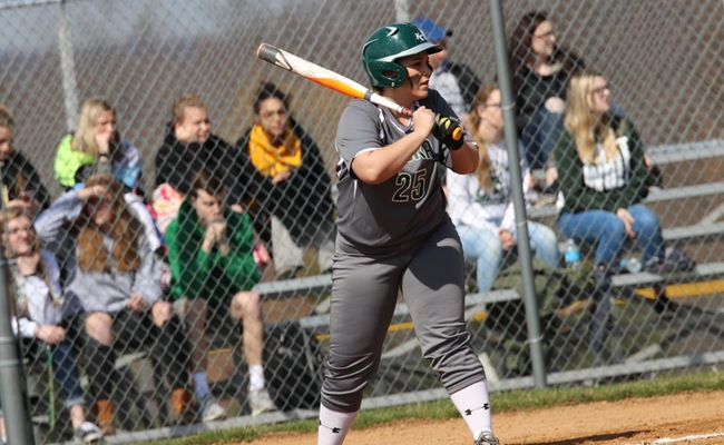 Alysha Bachman (25) went a perfect 3-3 in both games of the doubleheader on Wednesday -- Photo by Rohel Duncan