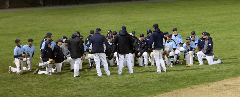 Baseball Smacks Four Homers in Sweep over Worcester State; Coach Harjula Earns 100th Win