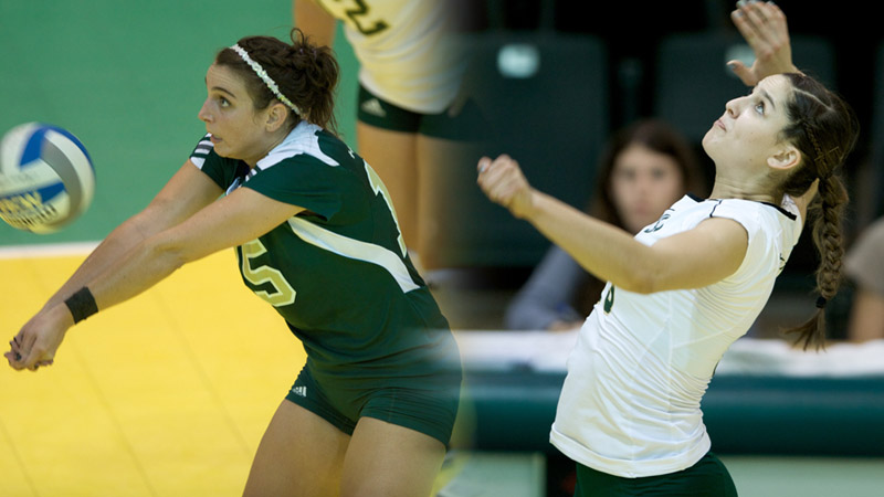 Libero Sydney Kordic and rightside hitter Kayla Beal both received all-conference accolades