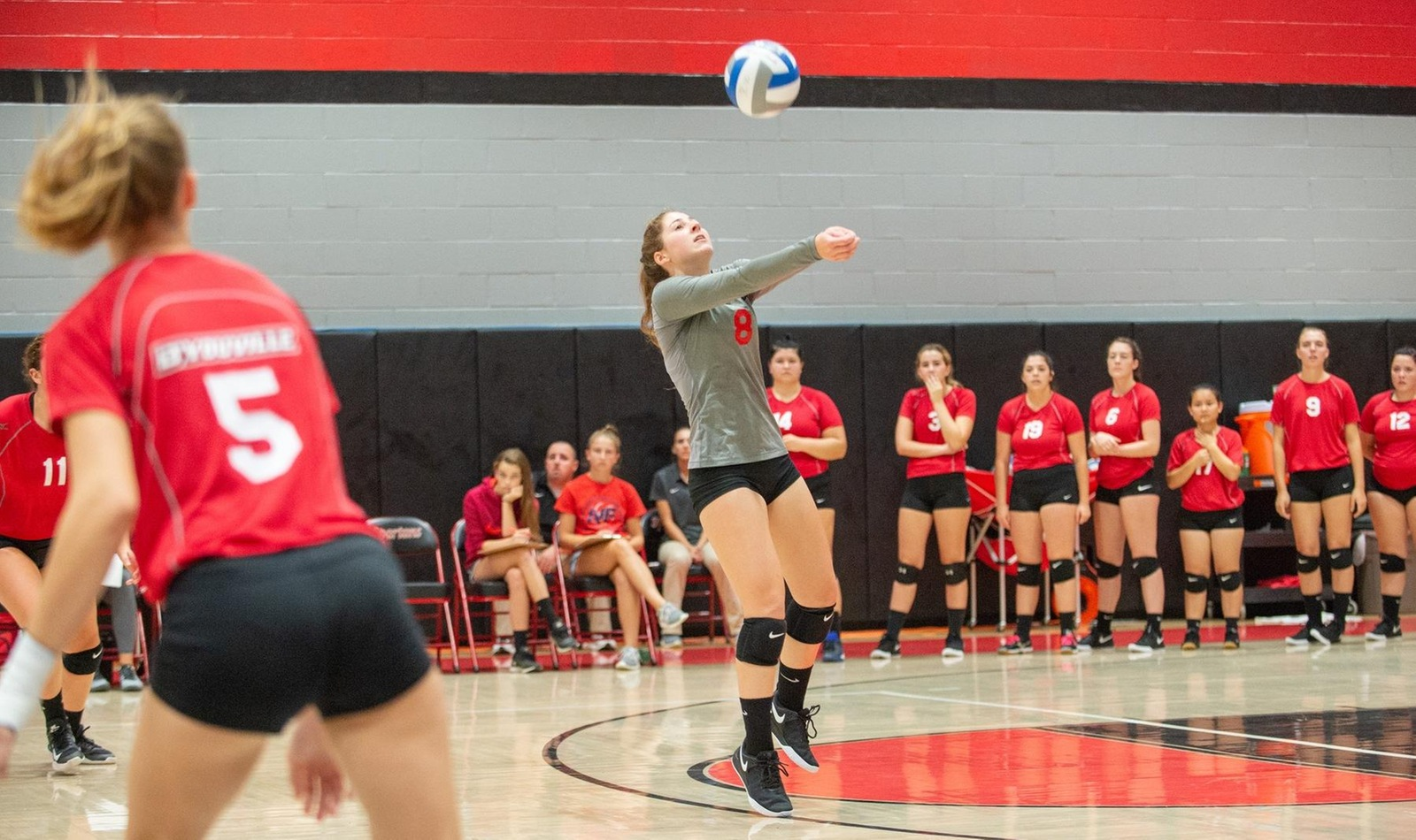 Women's Volleyball Nearly Comes Back against Medaille