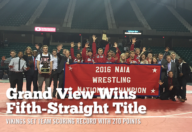 Grand View Wins Unprecedented Fifth-Straight National Championships