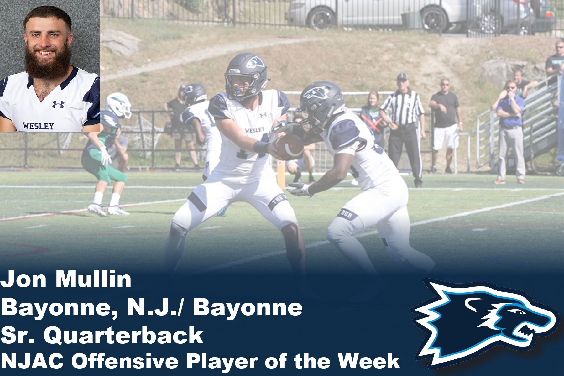 Mullin Named NJAC Offensive Player of the Week