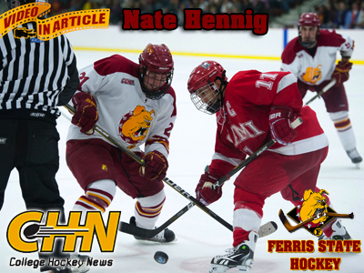 Ferris State's Nate Hennig Featured By College Hockey News