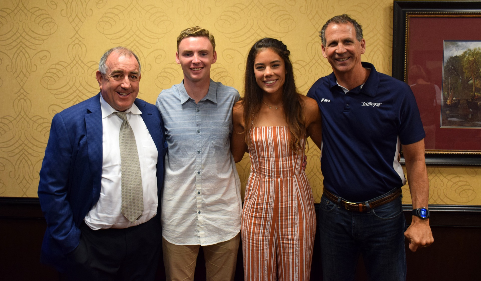 Renata Bath and Grant Joyce are IVC's scholar athletes of year