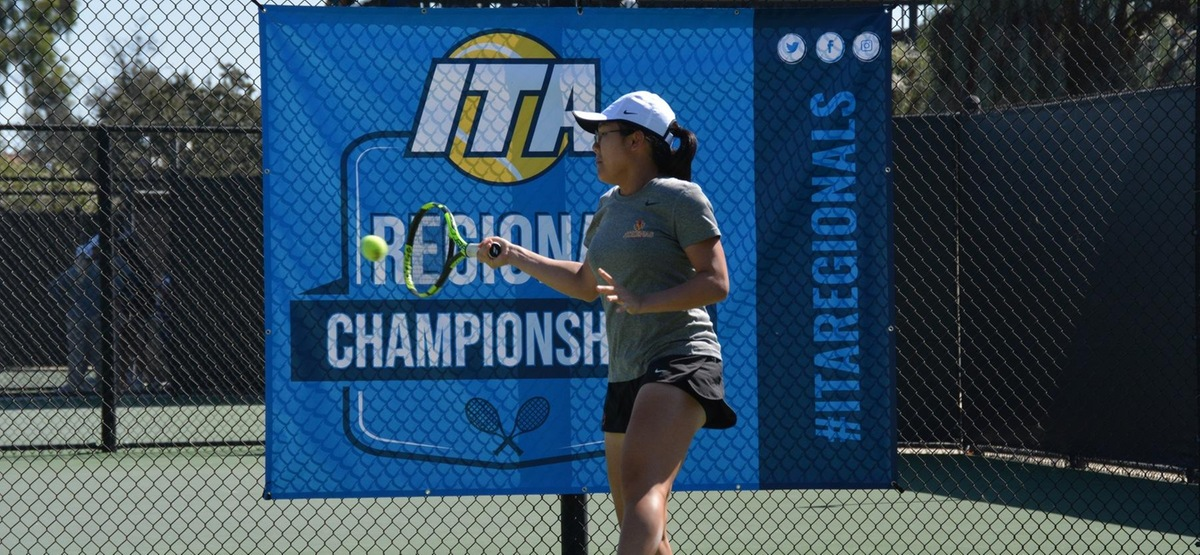 Justine Leong earned both singles and doubles championships at her first ITA event