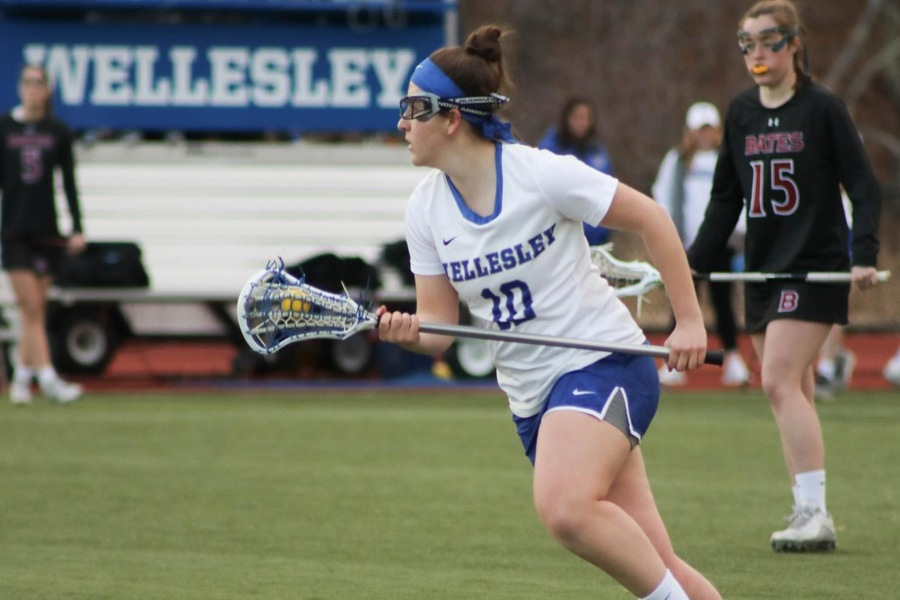 Dacia Persky led Wellesley with four goals against Coast Guard (Miranda Yang)