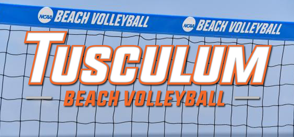 Tusculum beach volleyball splits pair on historic day