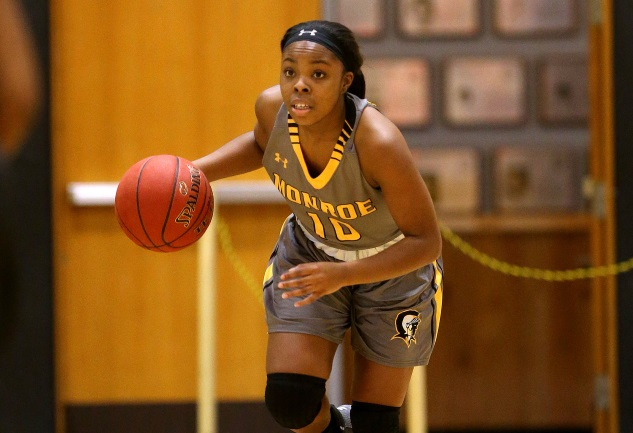 Taliyah Brisco hit three 3's and scored 10 in a win over Mercyhurst.