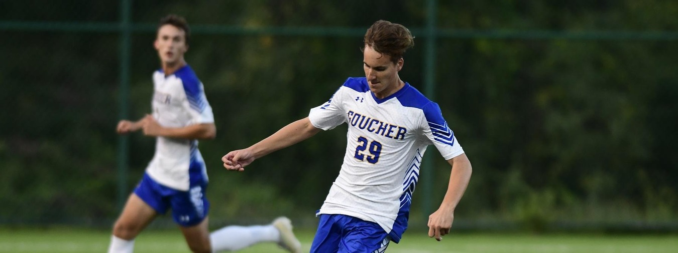 Perry's Two Tallies Power Goucher Men's Soccer To 3-2 Win Against Wilson