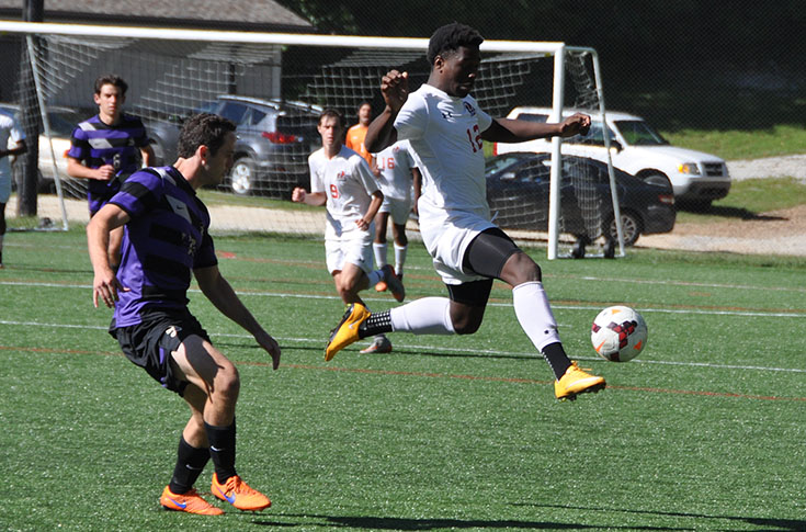 Men's Soccer: Kristian Javier scores acrobatic goal in Panthers' game at the University of the South