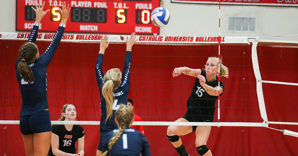 Volleyball Opens Neumann Invite with Two Wins