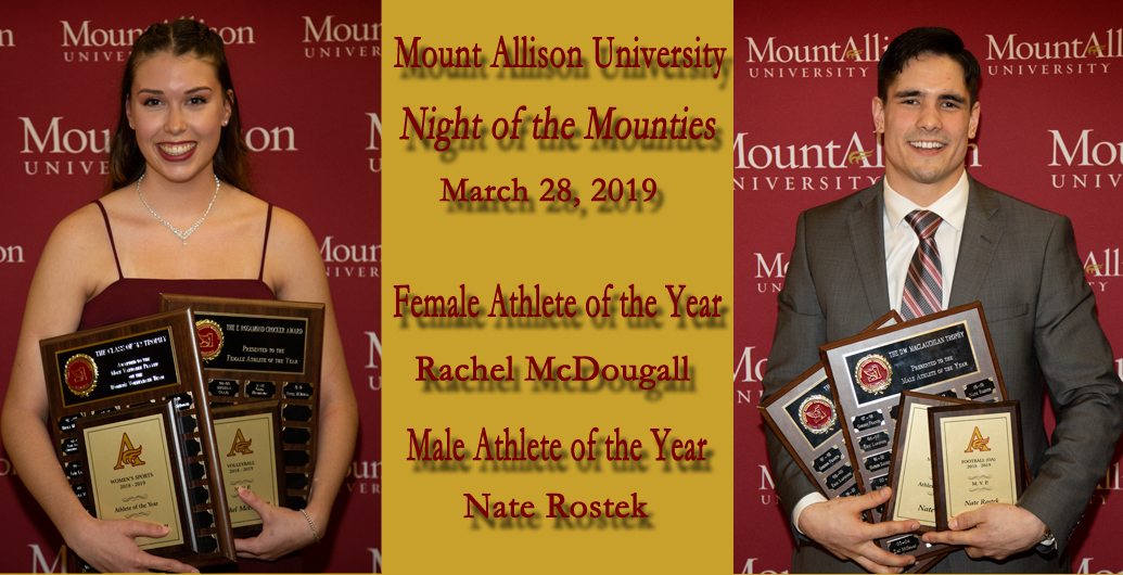 Mount Allison honours top student-athletes at annual Night of the Mounties