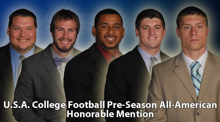 Five Eagles Earn Pre-Season All-American Honorable Mention