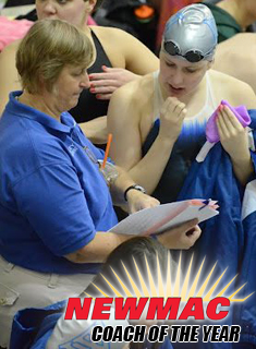 Dix Named NEWMAC Swim Coach of the Year
