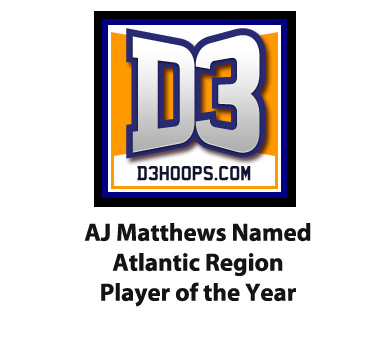 Matthews Named D3hoops.com All-Atlantic Player of the Year