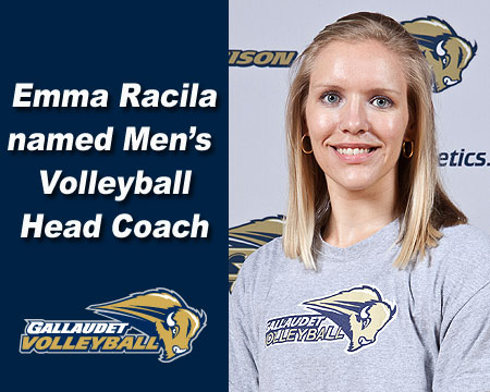 Emma Racila named Gallaudet University men's volleyball head coach