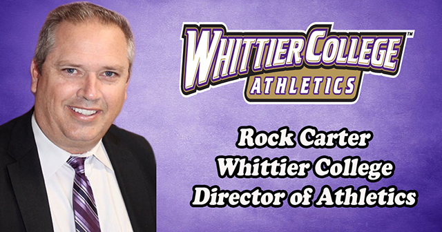 Whittier: Rock Carter Named Director of Athletics