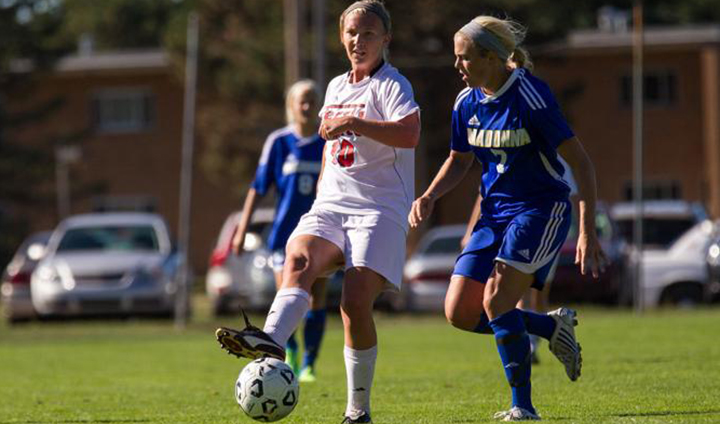Nichole Boehnke's Two Goals Lift Ferris State Soccer To GLIAC Road Victory