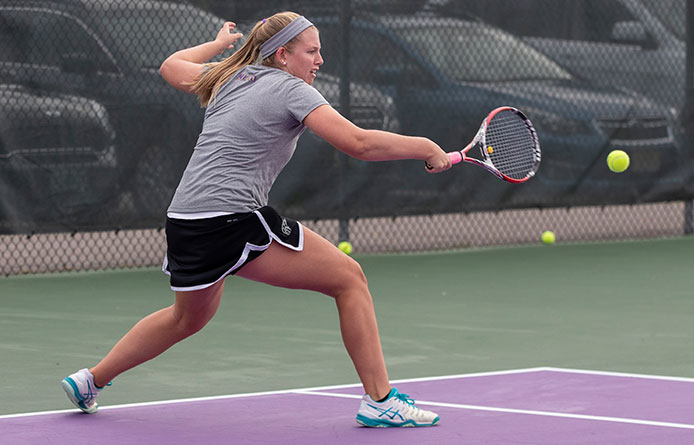 Women's Tennis Rallies for Lead Before Falling to Saint Anselm, 4-3