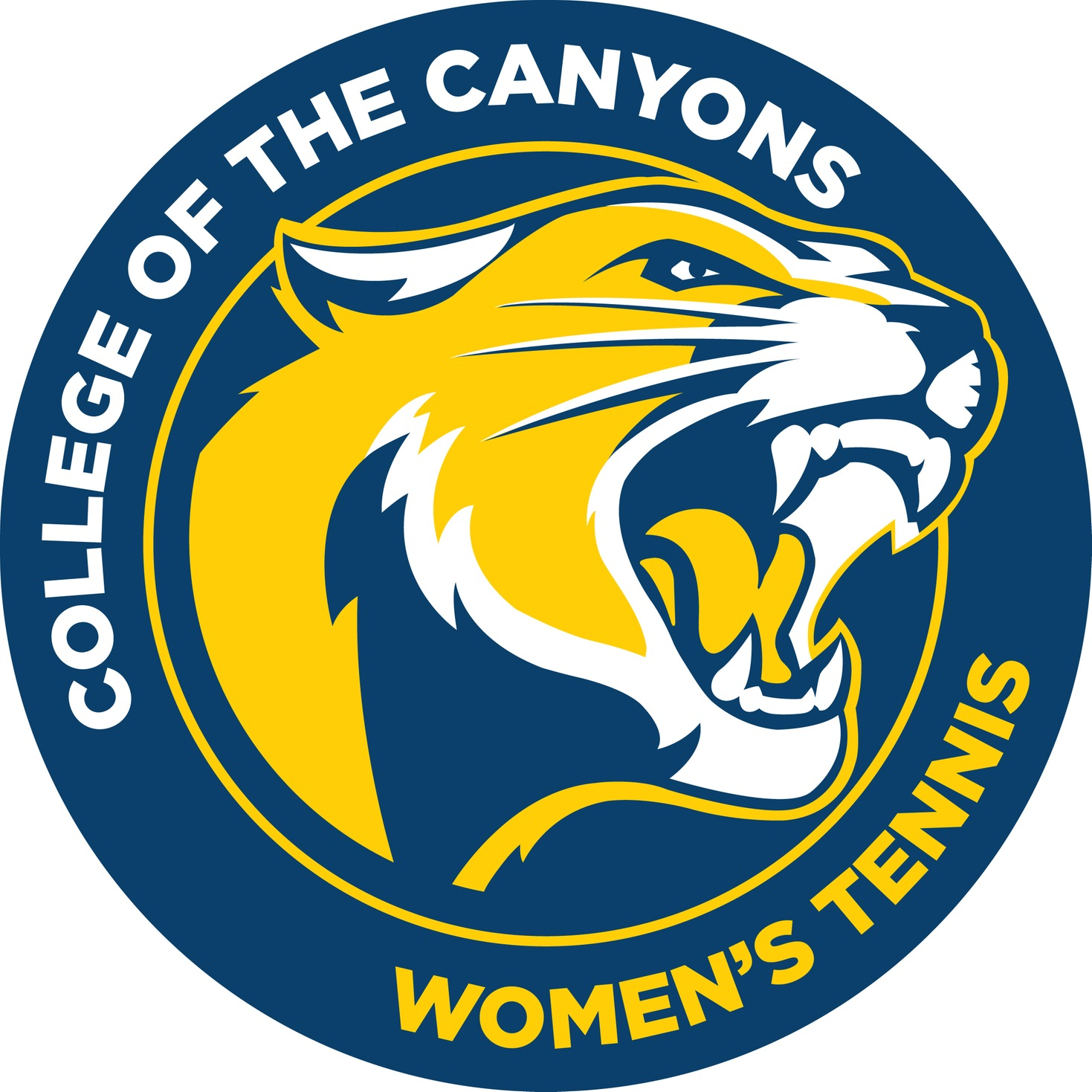 College of the Canyons women's tennis logo.