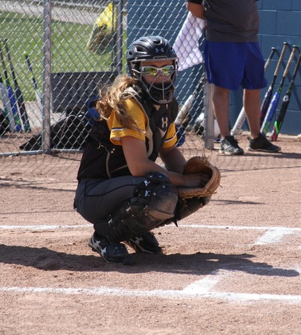 Broome catcher behind the plate