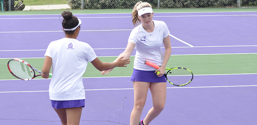 Women's Tennis Team Opens ASC Play With 9-0 Win