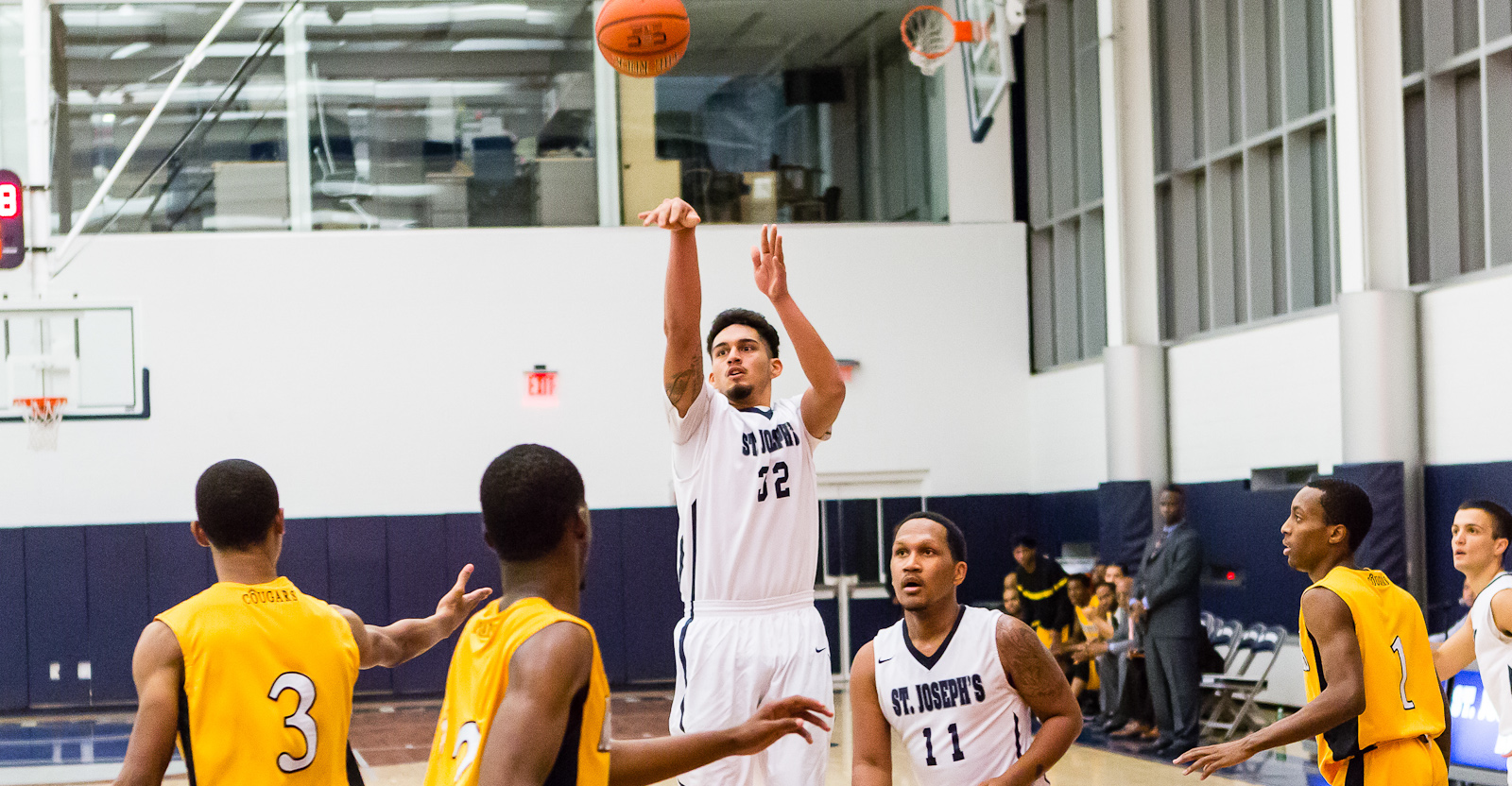 Men's Basketball Rains Down 13 Treys to Score Big Win at Home Over Hunter