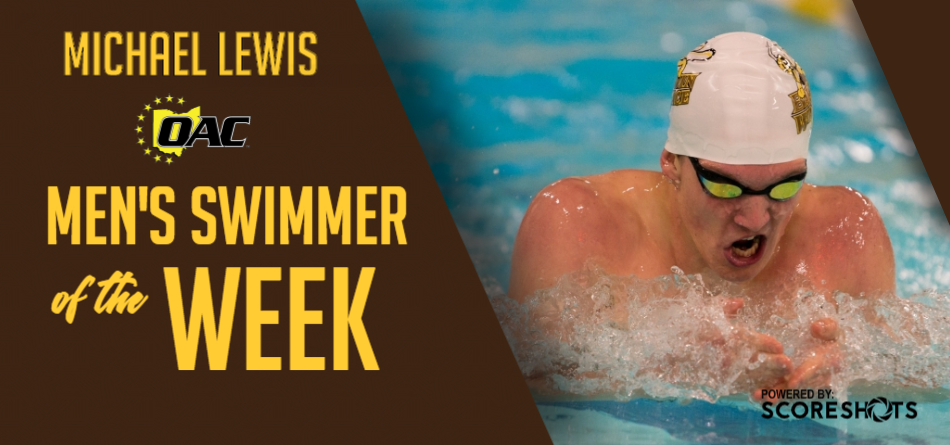 Lewis Garners First Career OAC Men's Swimming and Diving Weekly Honor