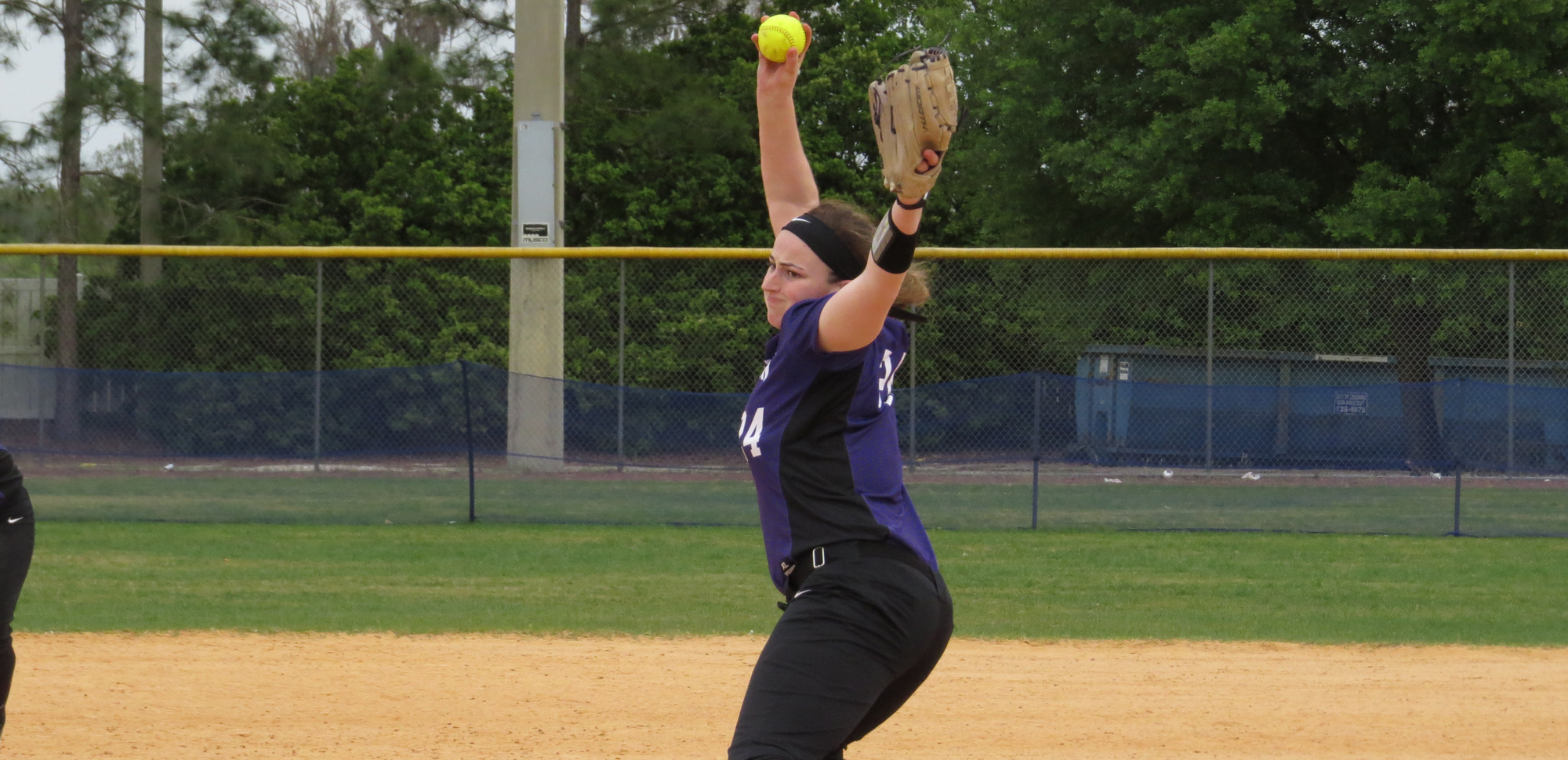 Jennifer Sweeney held No. 6 Moravian hitless through the first six innings of Saturday's game two victory.