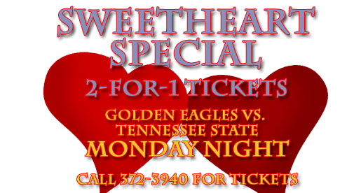 Happy Valentine's Day: Sweetheart Special for Monday's game